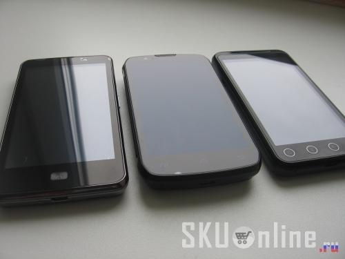 Слева направо: Zopo ZP300+, Innos D9, Zopo ZP100