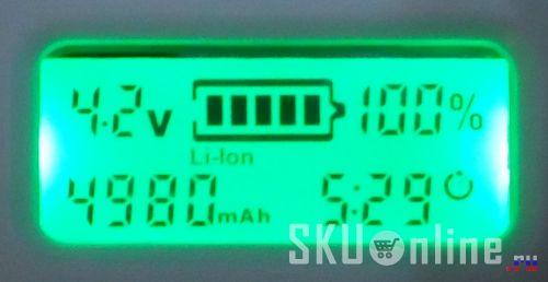 Аккумуляторы заряжены за 5.5 часов