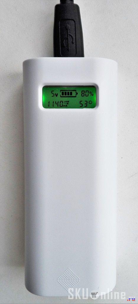 переключение повербанка в режим отдачи 1А тока