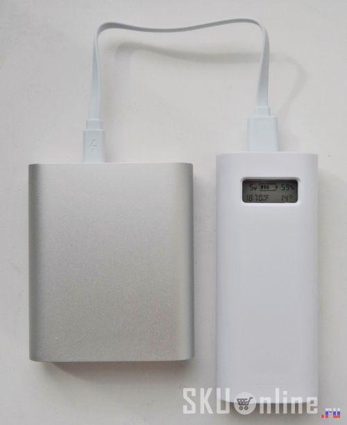 Подключим повербанк  Xiaomi 10400 mAh