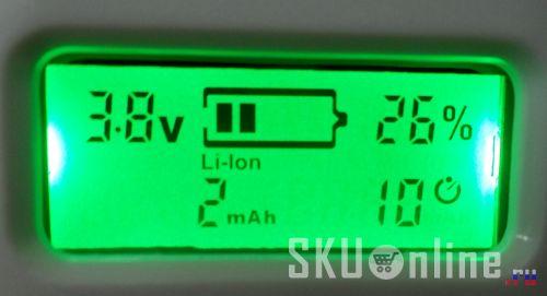 Подсветка ЖК индикатора имеет приятный зеленый цвет