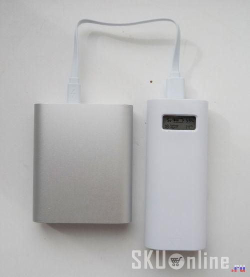 Ставим на зарядку от повербанка Soshine E4S с индикацией