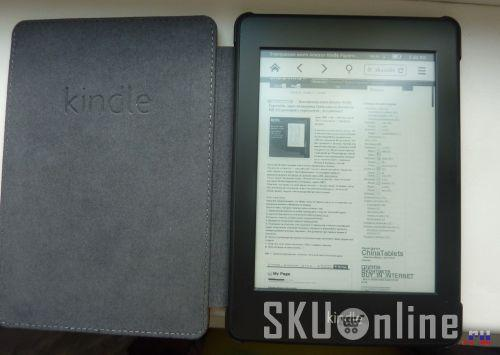 Amazon Kindle Paperwhite в открытом чехле