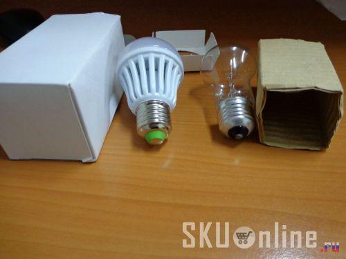 Светодиодная лампа и лампа накаливания - 2