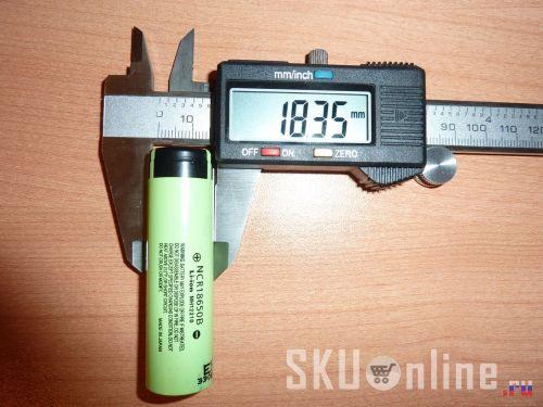 Толщина аккумулятора Panasonic NCR18650B