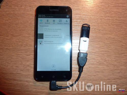 Подключение USB-флэшки через OTG Timmy E82