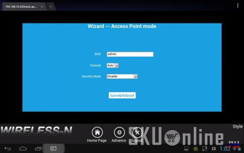 Wizard Access Point mode
