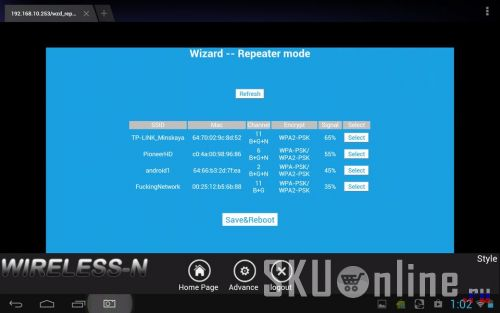 Wizard Repeater Mode