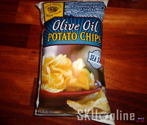 Упаковка с чипсами. Вид спереди