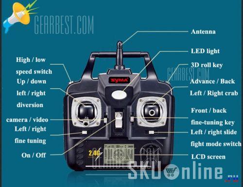 Пульт управления квадрокоптером Syma X5C