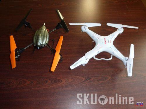 Квадрокоптеры Wltoys V222 и Syma X5C