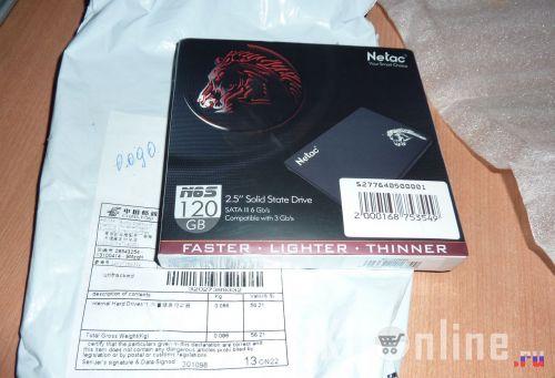 Упаковка с SSD Netac N6S