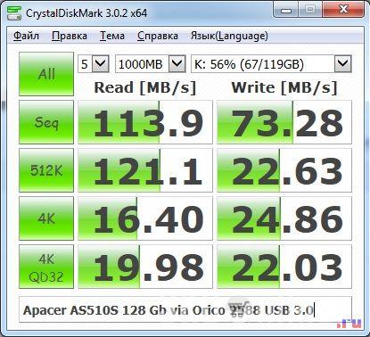 SSD Apacer в боксе Orico