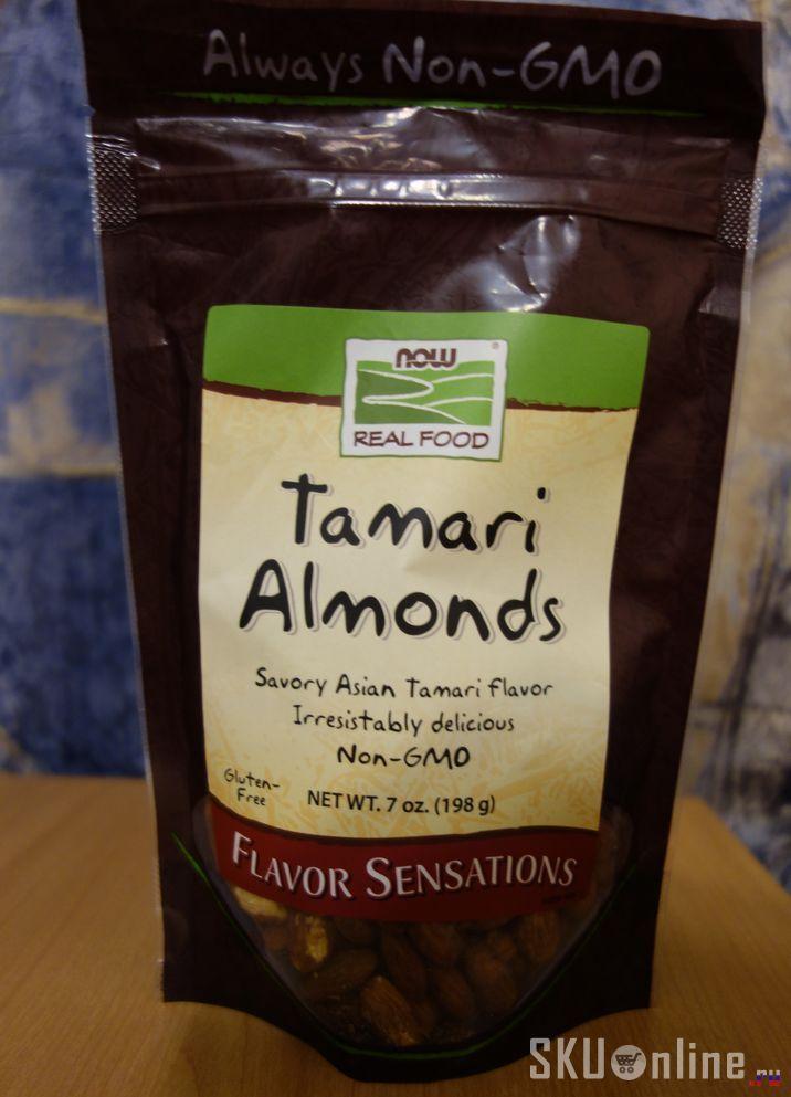Миндаль в соусе тамари от Now Foods