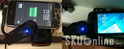 Зарядка iPhone 3gs и Samsung GT-S5660