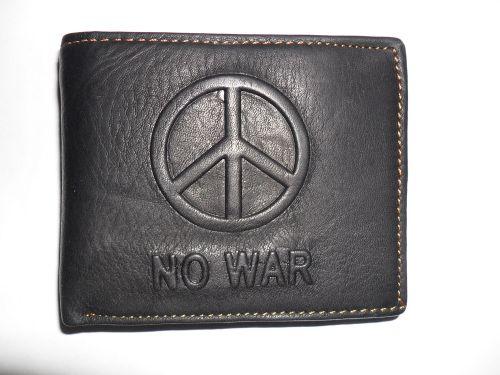 Aliexpress: Кожаный кошелек пацифиста NO WAR