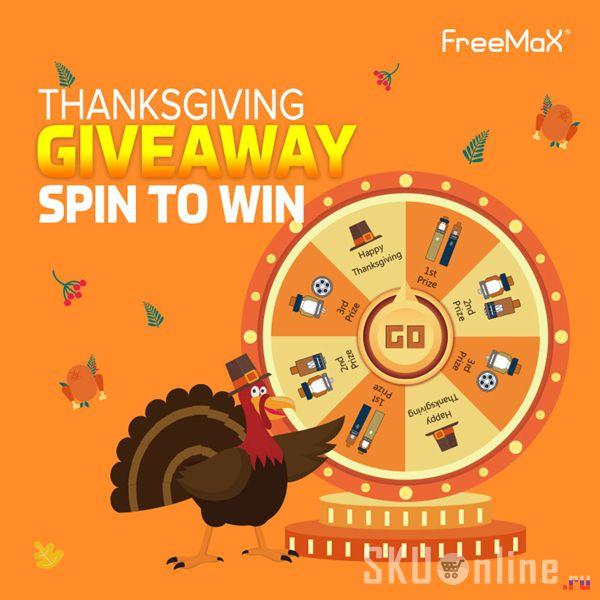 Freemax Thanksgiving Giveaway